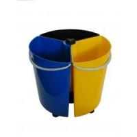 Rotating 39 Litre Triple Recycling Bin