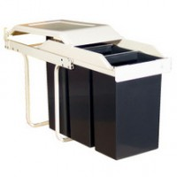 Built in Multi Box Recycling Bin 30 Litre