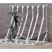 Semi Vertical Multi Bike Rack
