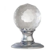 Ice Facetted Crystal Door Knob - AC020