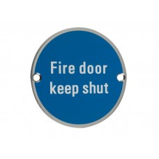 Fire Door Signage 75mm diameter