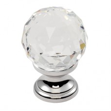 Lead Crystal Clear Faceted Knob - FTD670 (FTD670) Grant Haze Hampshire Architectural Ironmongers and Builders Merchants