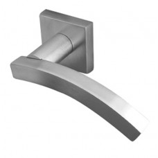 Kubus Curved  Lever on Square Rose - JV4002 (JV4002) Grant Haze Hampshire Architectural Ironmongers and Builders Merchants