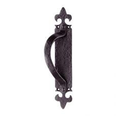 Armorial Pull Handle On Backplate - LF5260 (LF5206) Grant Haze Hampshire Architectural Ironmongers and Builders Merchants
