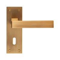 Sasso Lever on Backplate Lock EUL011