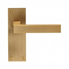 Sasso Lever on Latch Backplate EUL012 (EUL012) Grant Haze Hampshire Architectural Ironmongers and Builders Merchants