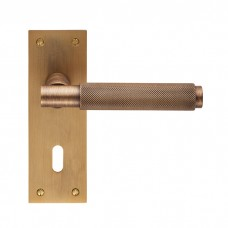 Varese Lever on Backplate Lock EUL051 (EUL051) Grant Haze Hampshire Architectural Ironmongers and Builders Merchants